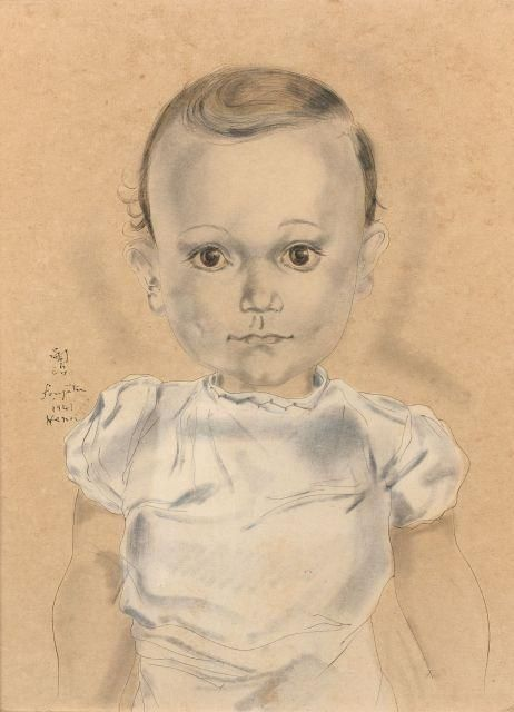 Foujita Tsuguharu, Portrait d'enfant, 1941