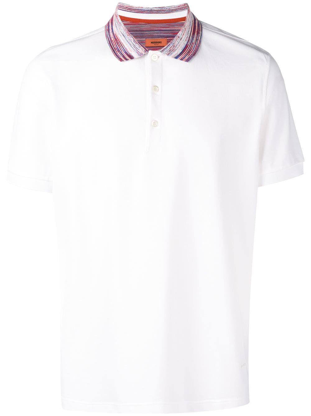 13c5f11b6f9d1 MISSONI MISSONI SHORT SLEEVED POLO SHIRT - WHITE. #missoni #cloth ...
