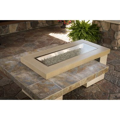 Uptown K Crystal Concrete Propane Natural Gas Fire Pit Table Glass Fire Pit Fire Pit Table Gas Fire Table