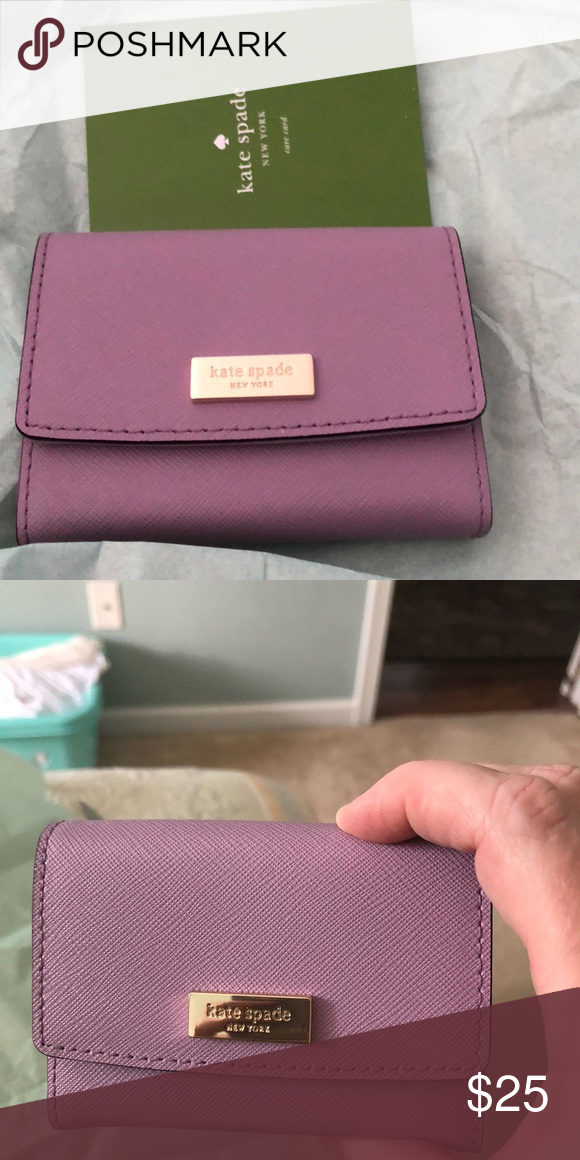 kate spade credit cardbusiness card holder lilac leather