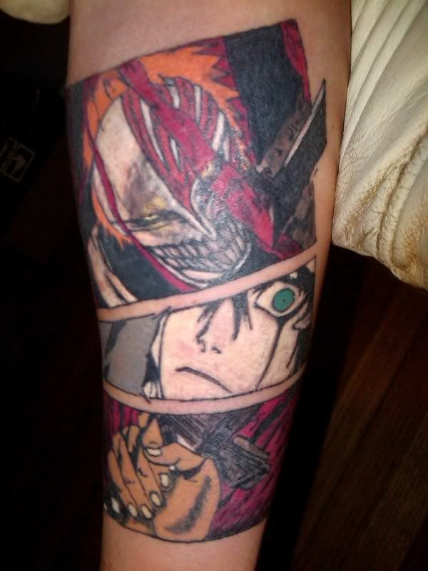 Bleach anime tattoo cool tattoos bleach tattoo manga - Mangas de tattoo ...