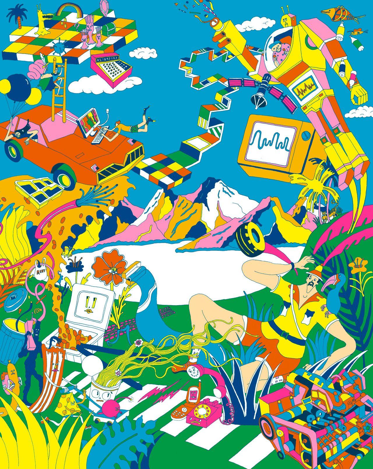 科学技術館 「大・展望展」のポスター です。デザイン:内木場 岩太さんアートディレクション :デザインムジカさん
