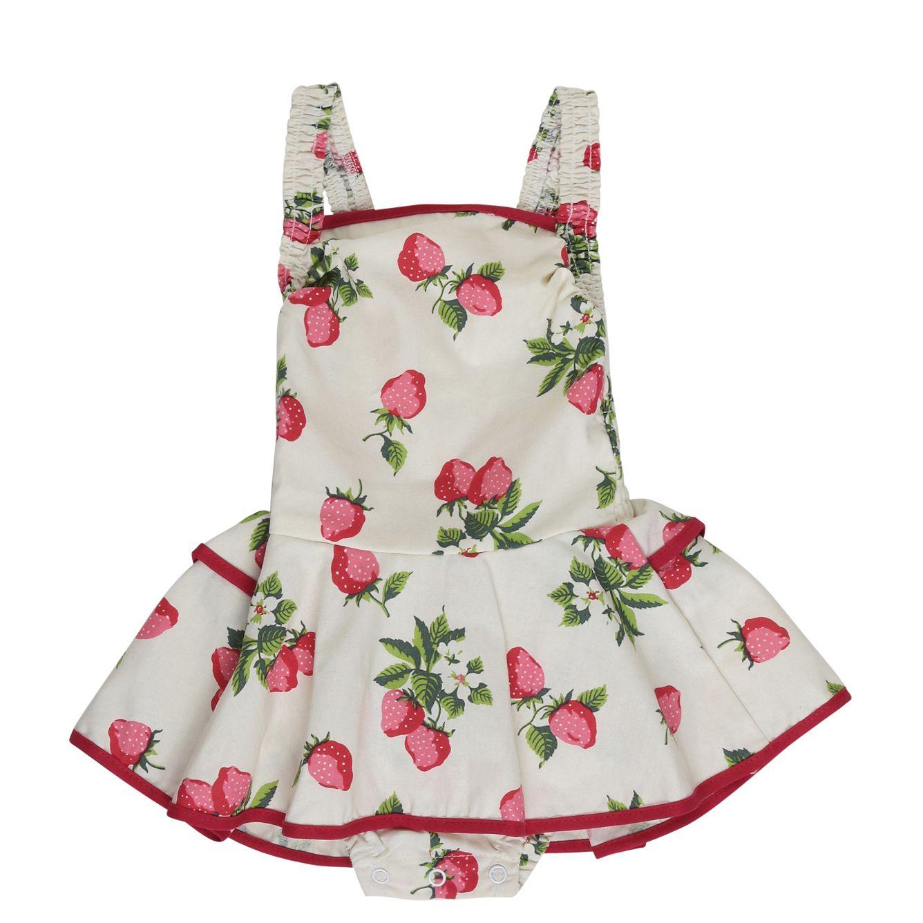 6010c7084 Rock Your Baby Lana Strawberry Romper rrp  49.95 cheeki price  37.45 ...