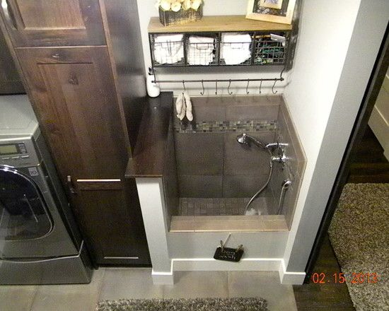 Interesting Dog Washing Sinks At Laundry Room Traditional Laundry