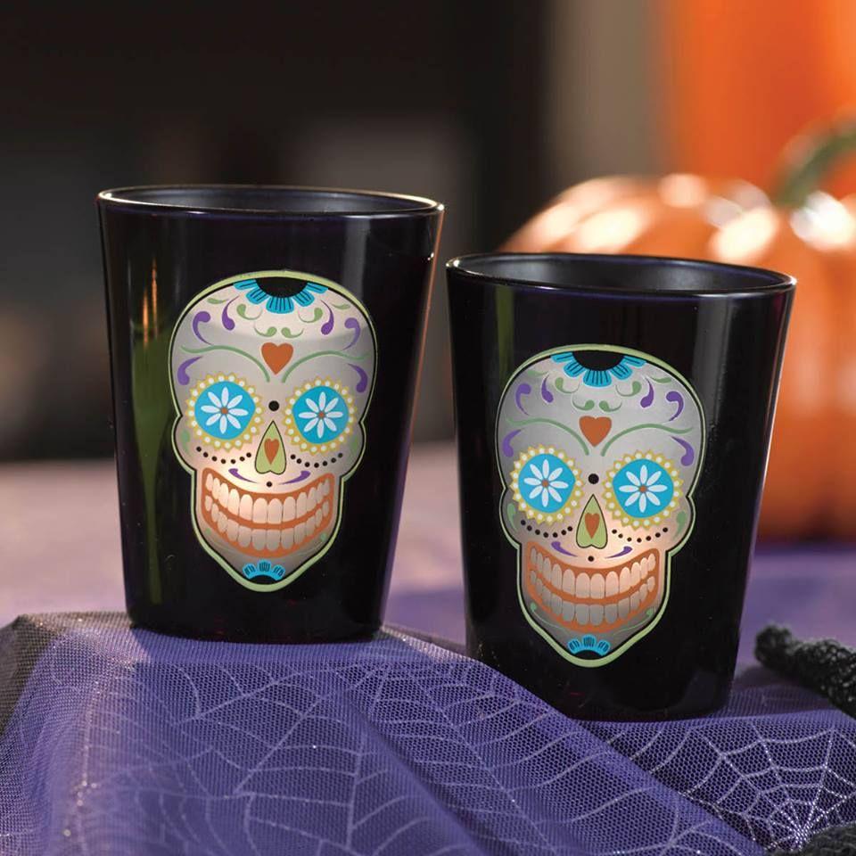 halloween skull votive holders