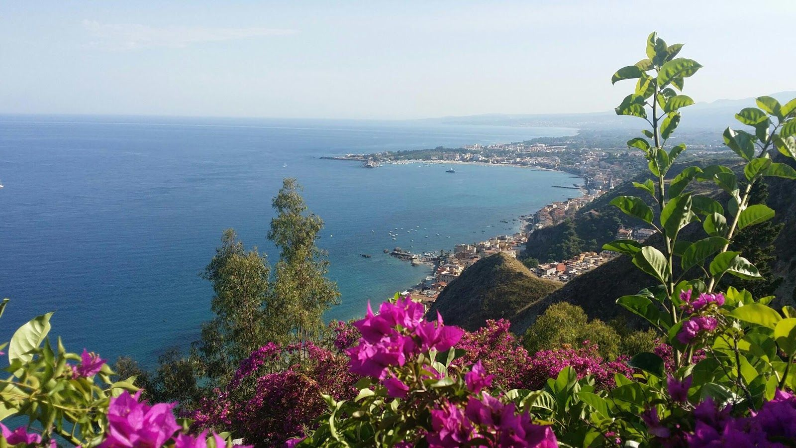 Lost in Sicily Taormina getaway, view from our hotel, the