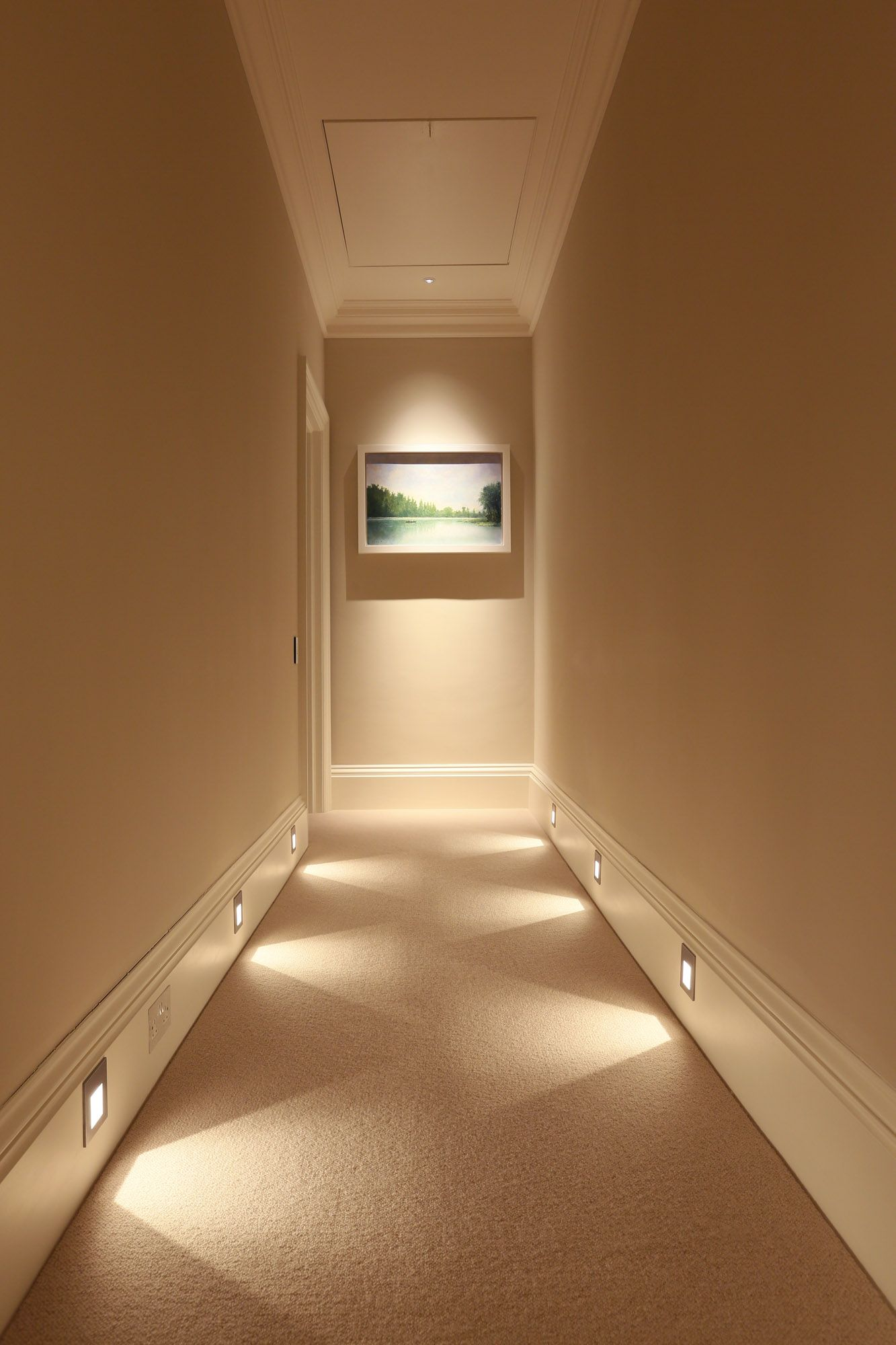Beautiful Recessed Lighting Hallway