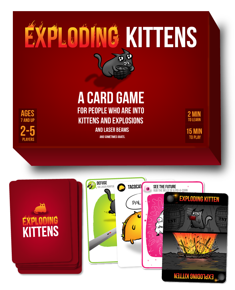 Exploding Kittens Card Game For People Who Are Into Kittens And