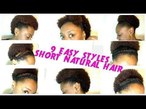 9 Back To School Hairstyles For Short Natural Hair The Curly Closet Youtube Short Natural Hair Styles Back To School Hairstyles Natural Hair Styles Easy