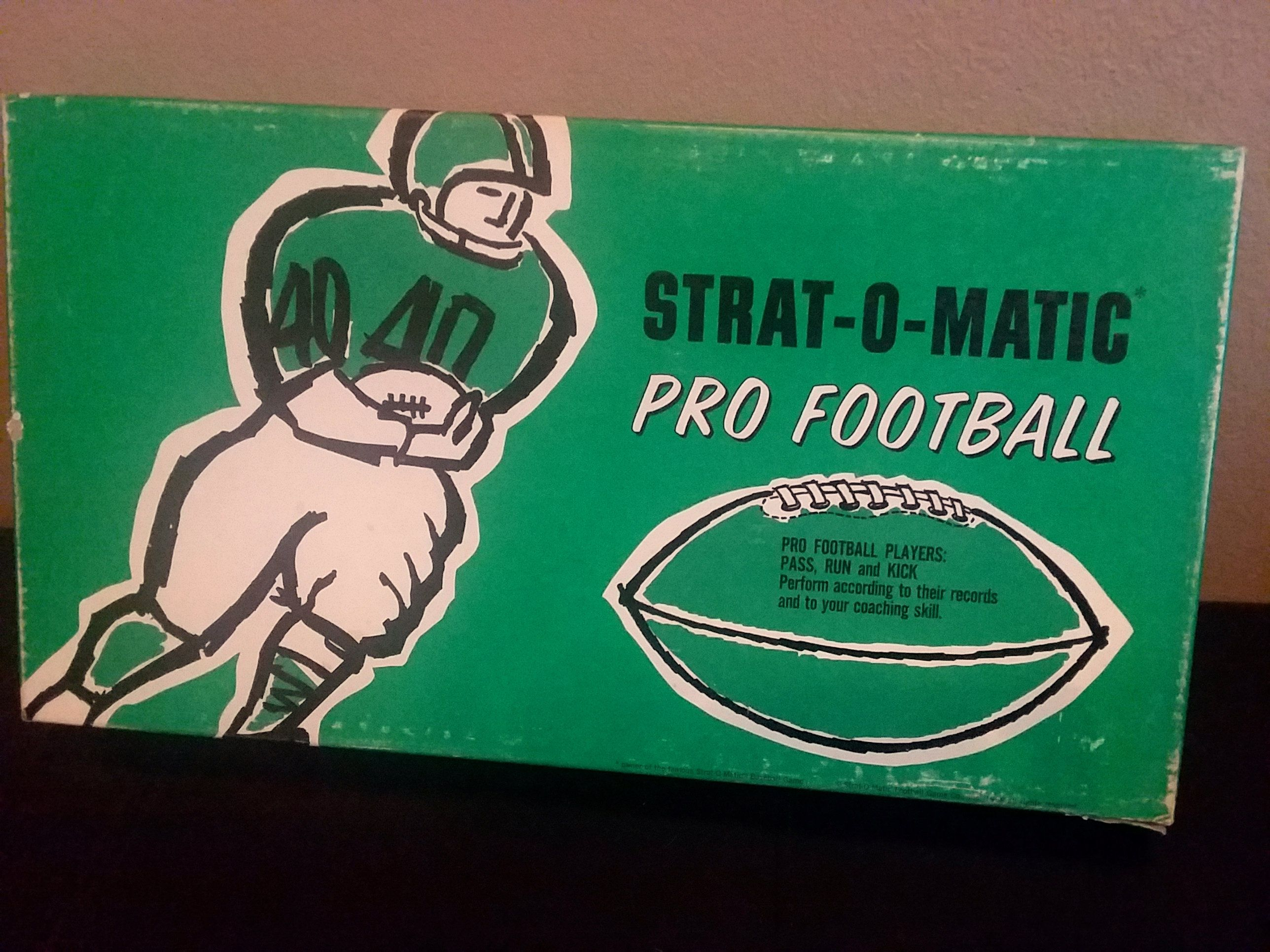 StratOMatic Pro Football Board Game 1968 Colts 49ers by
