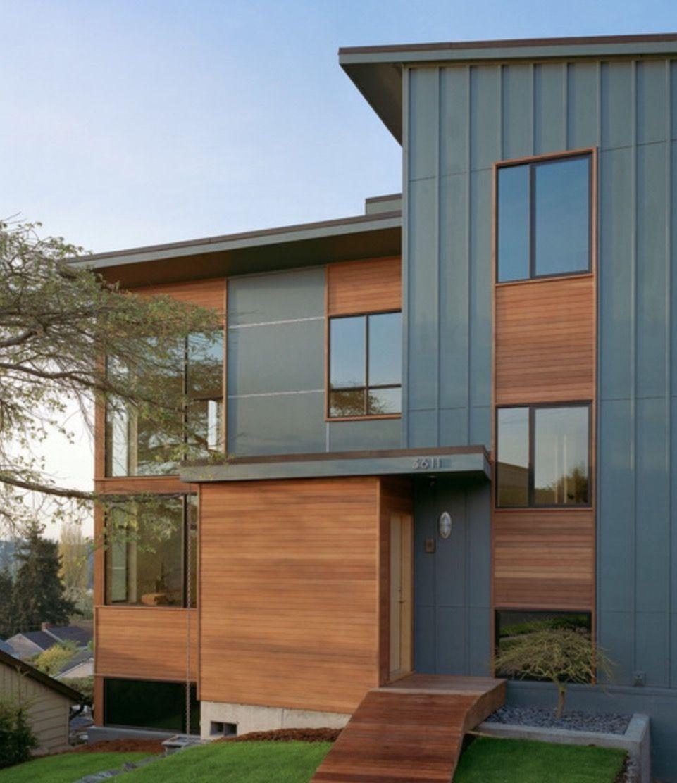 Modern Exterior Wood Siding: Horizontal & Vertical Siding Example