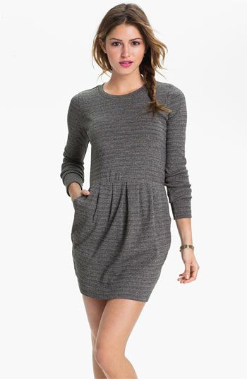 Bp Marled Stripe Tulip Dress Juniors Available At Nordstrom