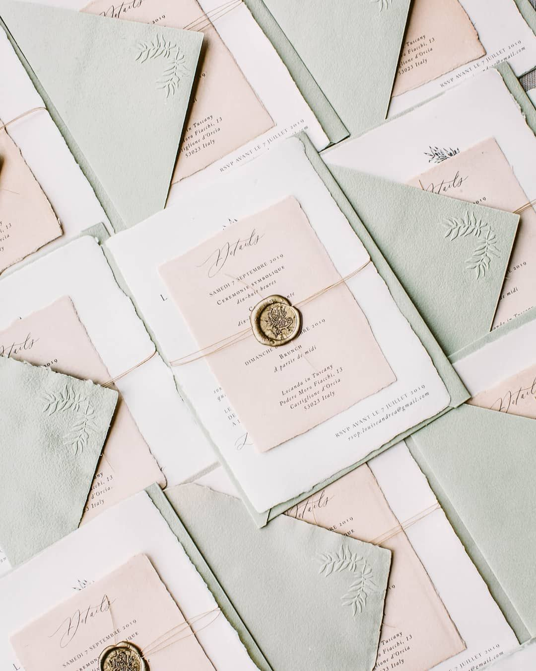 Laura E Patrick On Instagram Happy Friday To You All Sharing These Beautiful Invites Which Headed Out Last Week To Paris For An Upcoming Wedding In Tuscany Wedding Invitations Diy