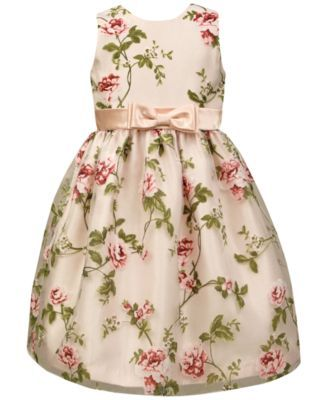 34f743c0bc8 Jayne Copeland Little Girls  Floral Organza Dress  43.99 A pretty floral  pattern decorates the outstanding organza of this gorgeous dress by Jayne  Copeland.