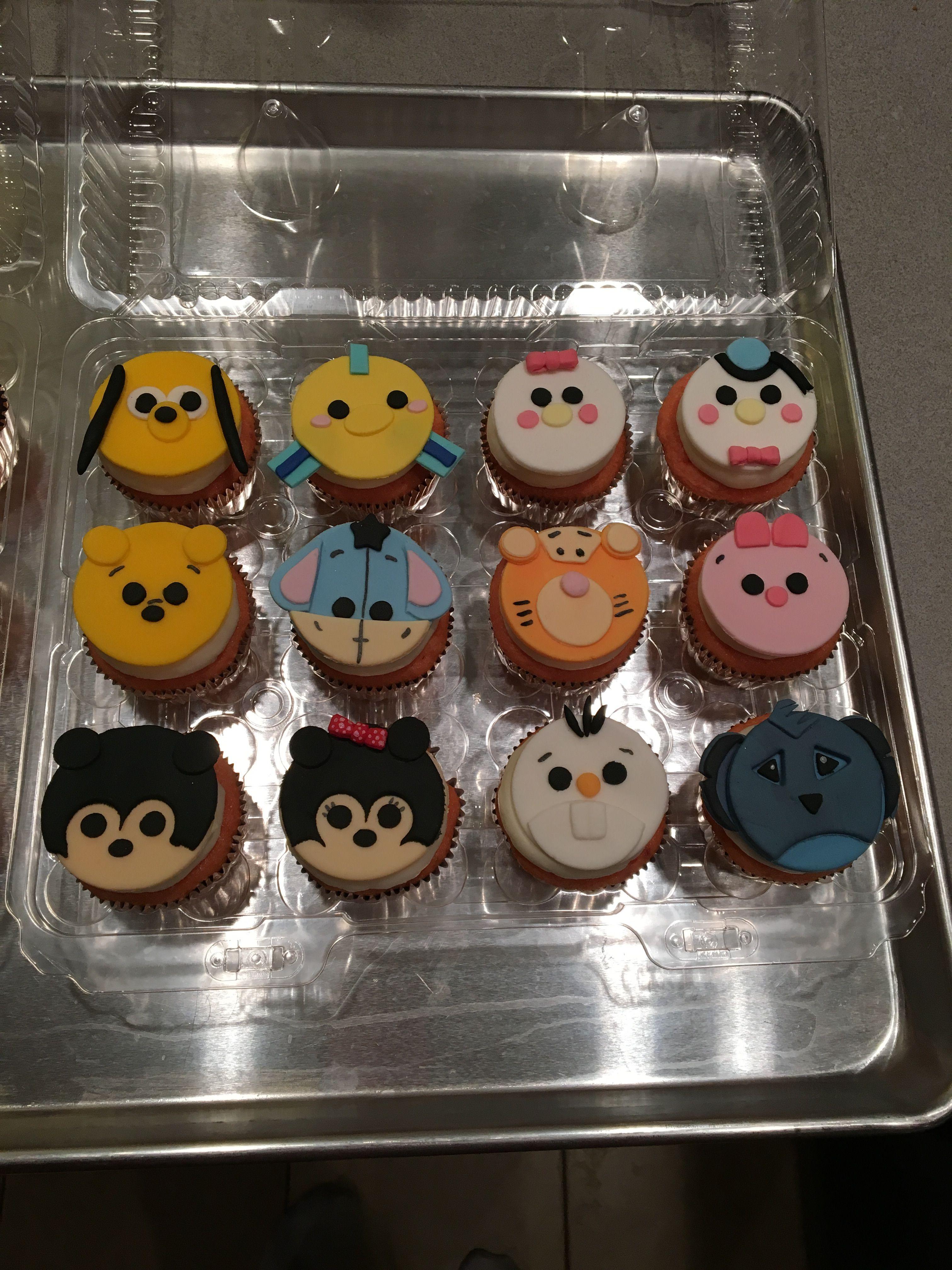 Disney tsum tsum cupcake toppers | Tsum tsum cupcakes ...