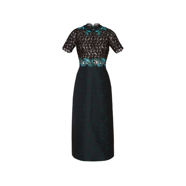 Mary Katrantzou ❤ liked on Polyvore featuring dresses, colorful dresses, short sleeve midi dress, midi cocktail dress, multi color dress and multi colored dress