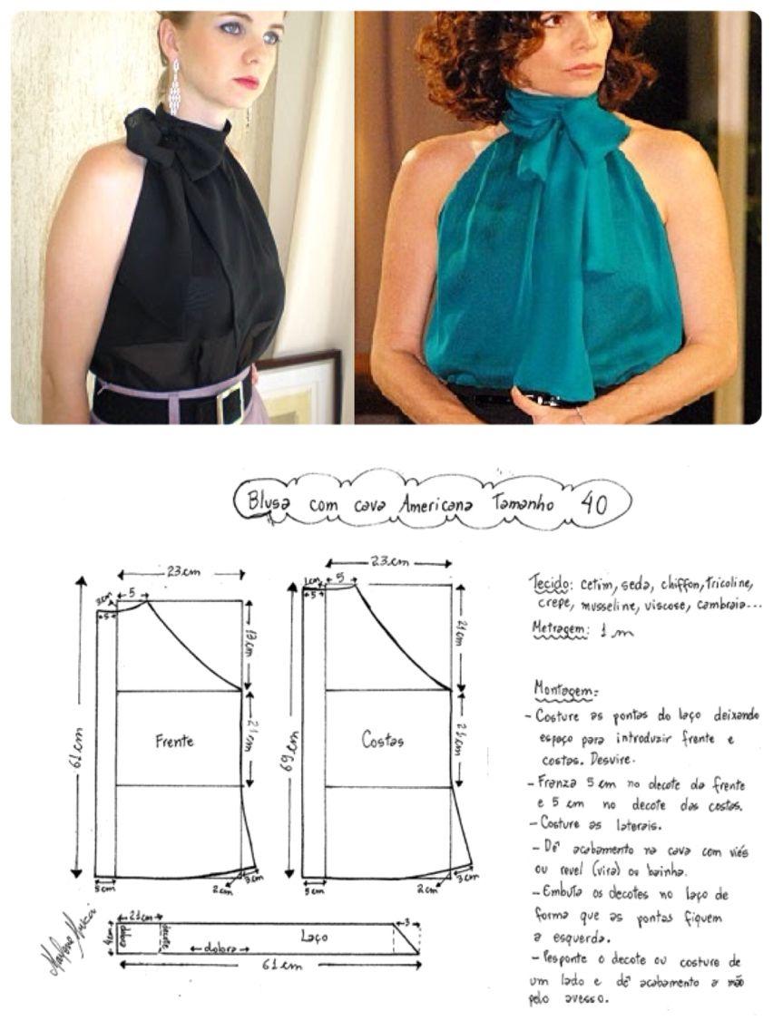 Halter neck top   Patrones De Costura   Pinterest