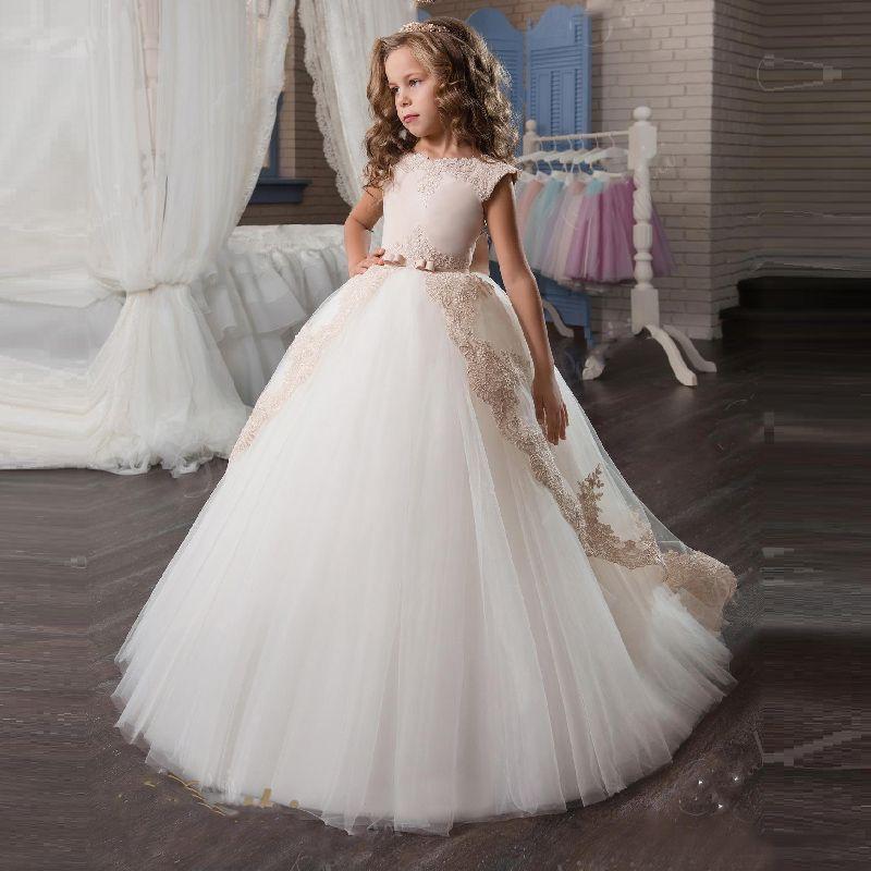 Bébé Fleur Filles princesse demoiselle d/'honneur Miss Fête D/'Anniversaire dentelle robe de mariée