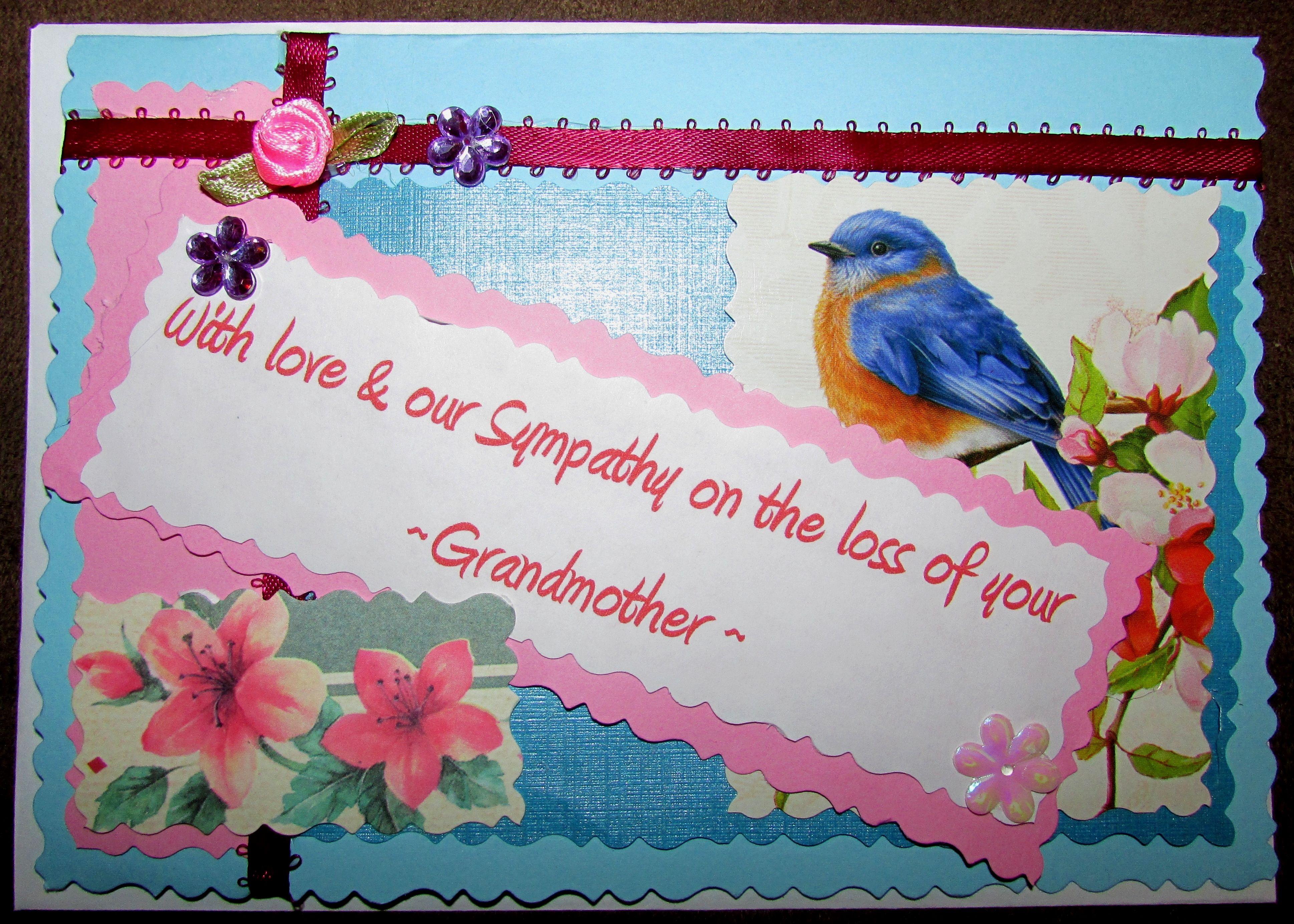 Loss of grandmother sympathy card sympathy cards