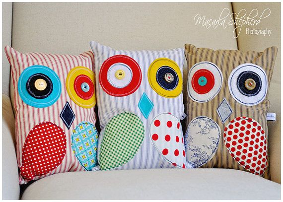 owl pillows!!