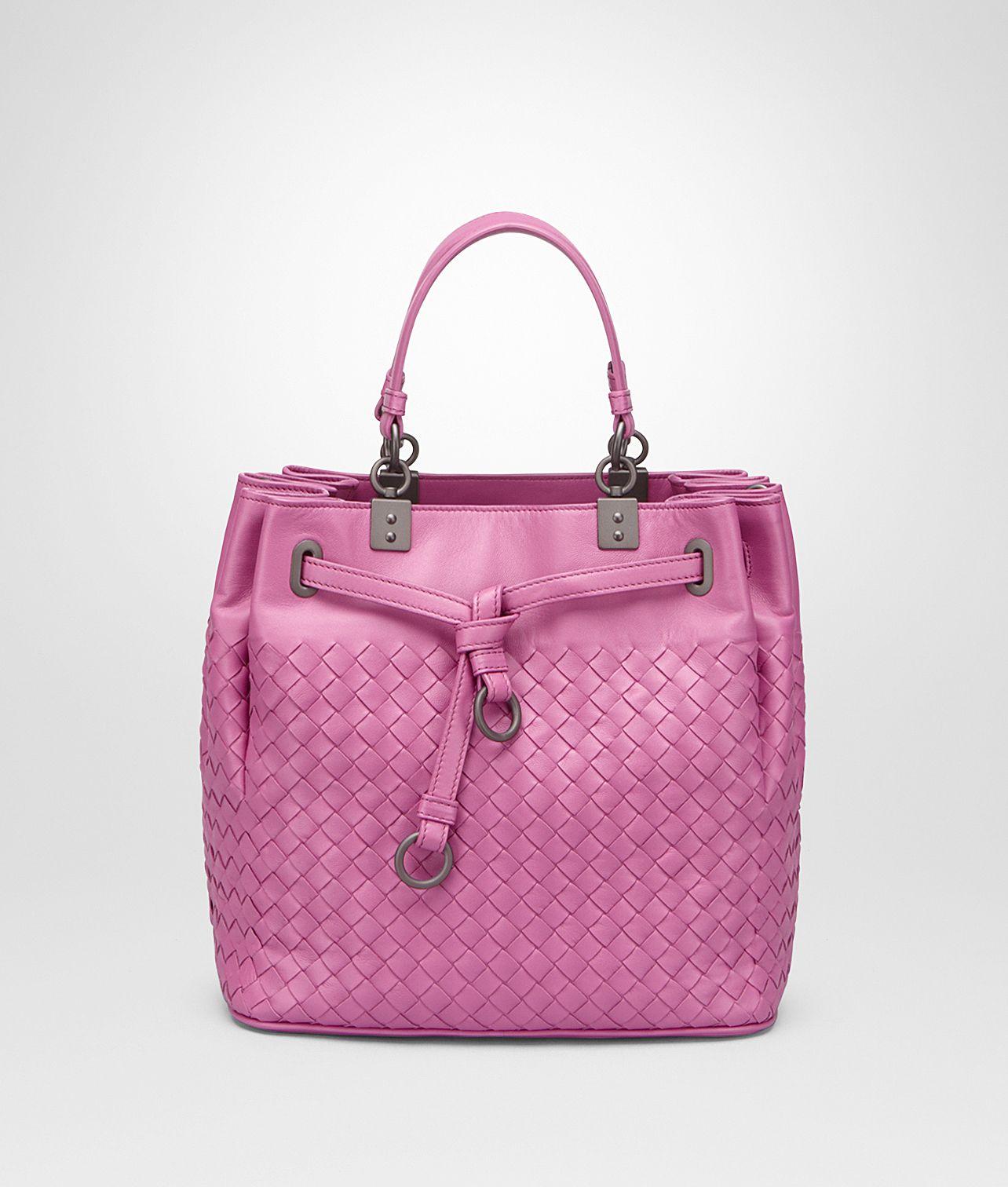 Shop Bottega Veneta® Women s BUCKET BAG IN PACIFIC INTRECCIATO NAPPA.  Discover more details about the item. 229faecae5bd9