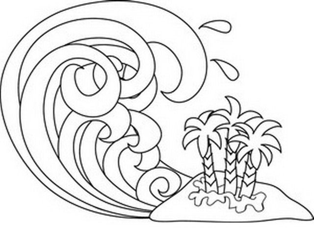 Tsunami Wave Coloring Page  Tsunami  Pinterest