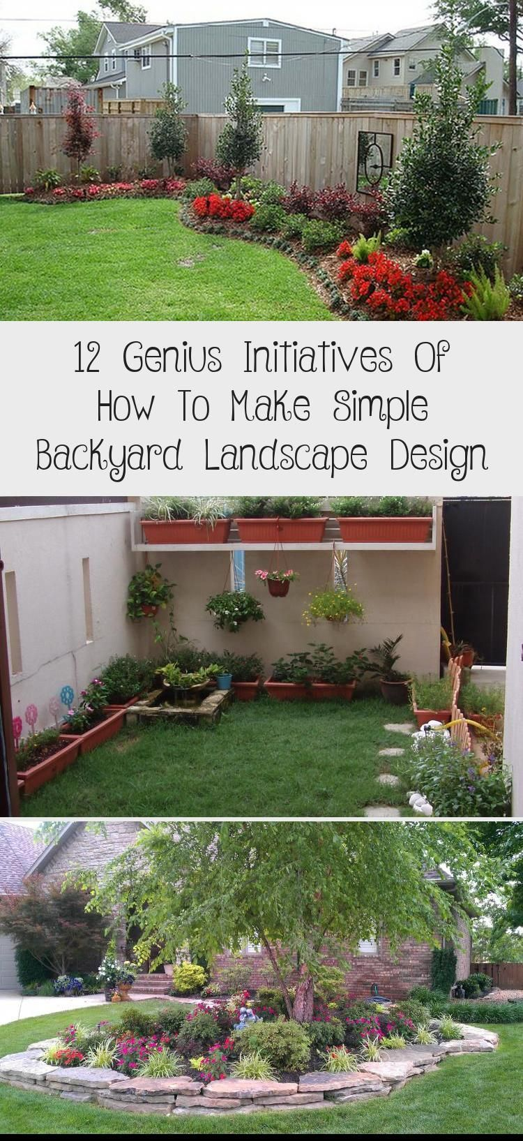 Simple Backyard Landscape Designs Home Design Pertaining To 12 Genius Initiative In 2020 With Images Backyard Landscaping Designs Backyard Landscaping Garden Landscape Design