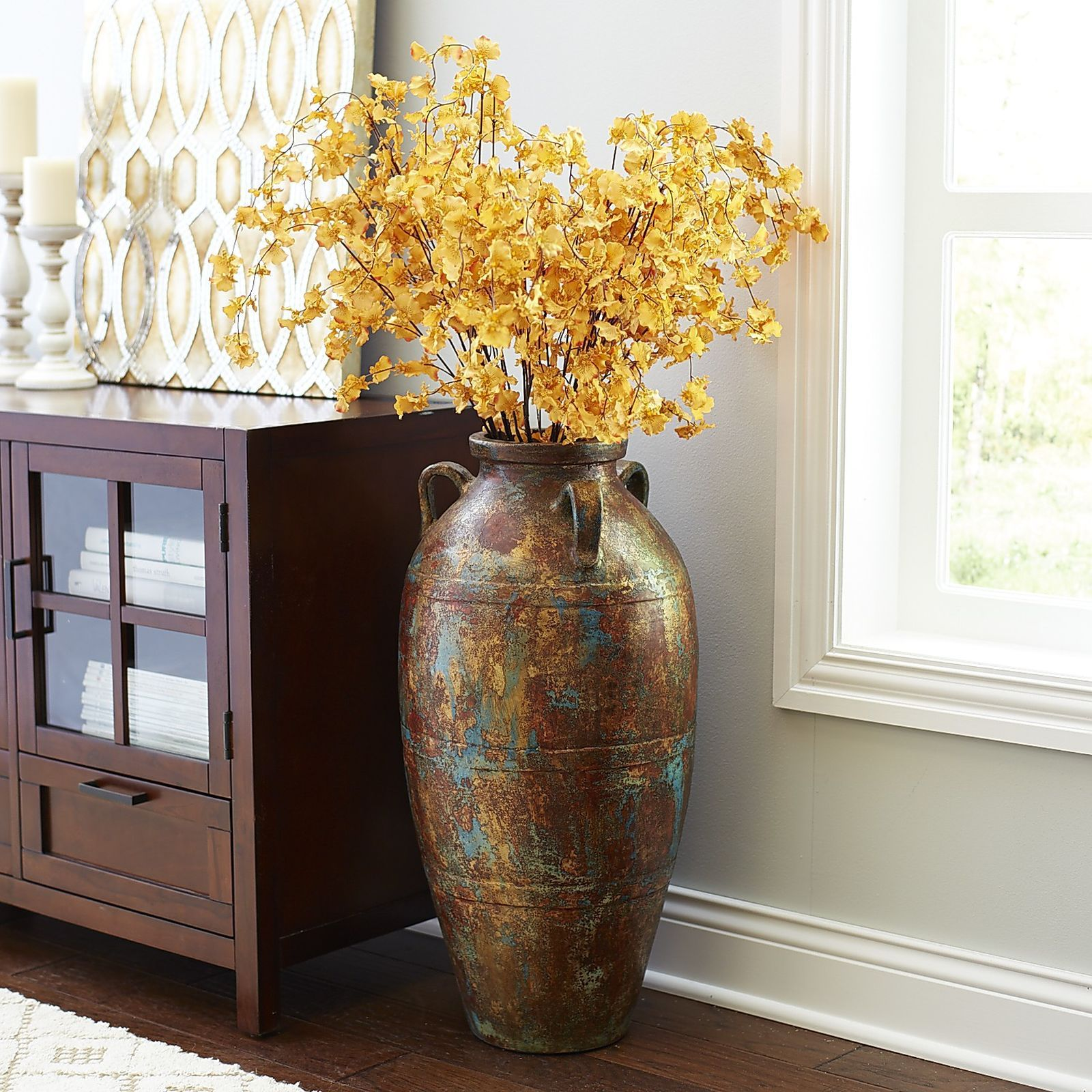 Tall Vases Home Decor Terracotta Floor Vase In 2019 Living Room Decor