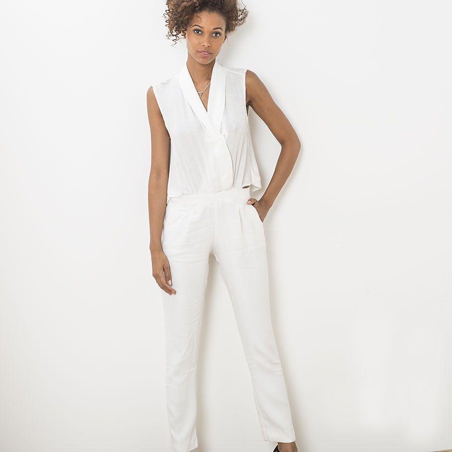 combinaison longue blanche ikks robes de mari e pinterest combinaisons longues et tenues. Black Bedroom Furniture Sets. Home Design Ideas