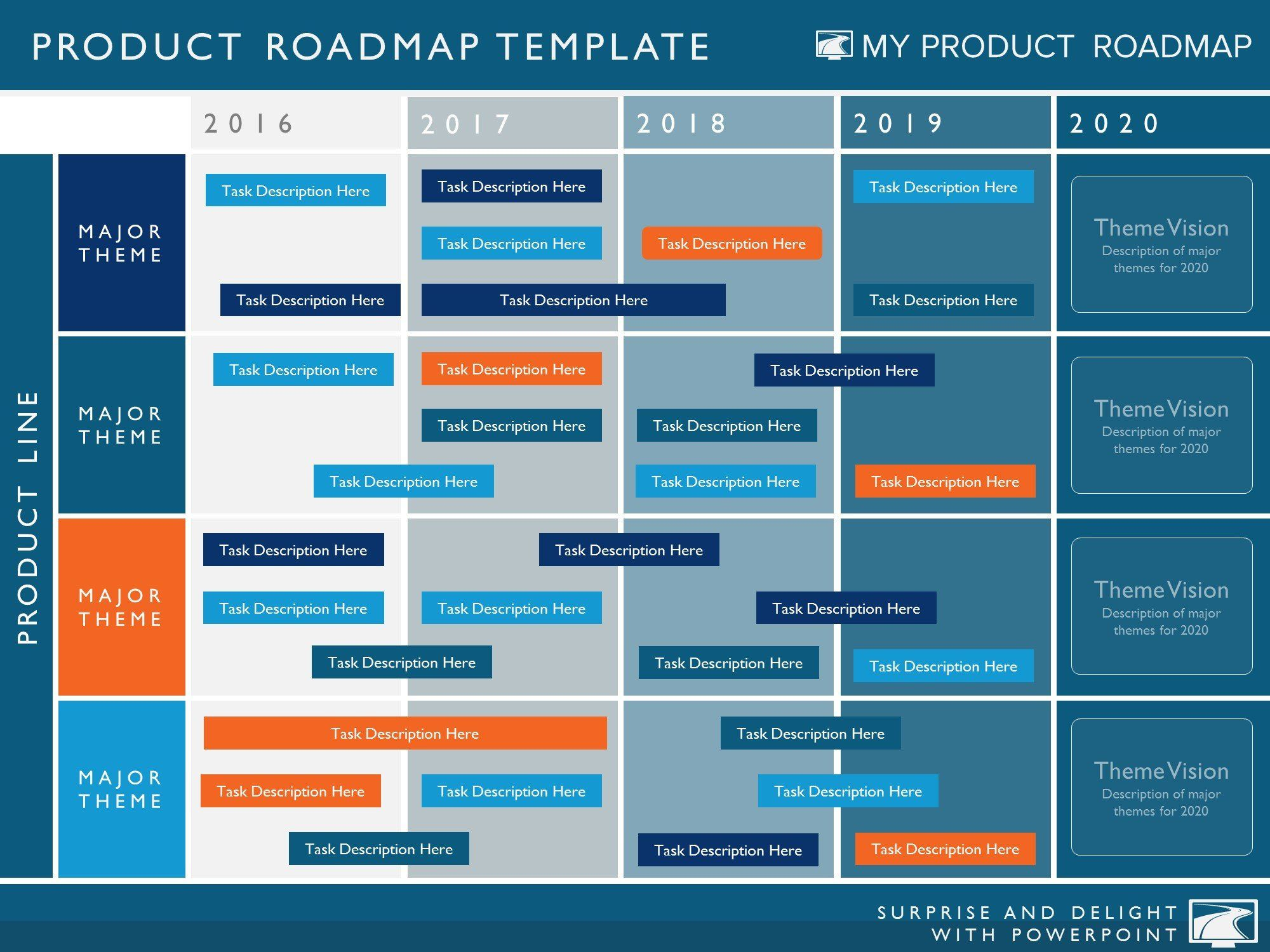 Five Phase Agile Software Timeline Roadmap Powerpoint Diagram - Website roadmap template