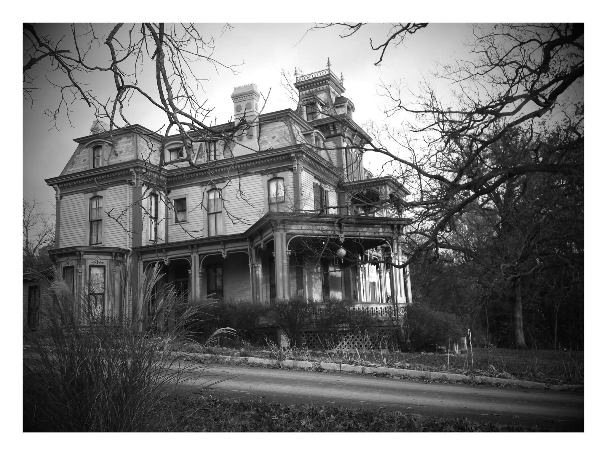Garth Woodside Mansion. Black and White photo taken late