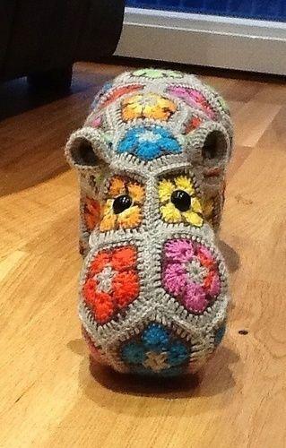 Makerist - Nilpferd aus afrikanische Blumen - Häkelprojekte - 2 ...