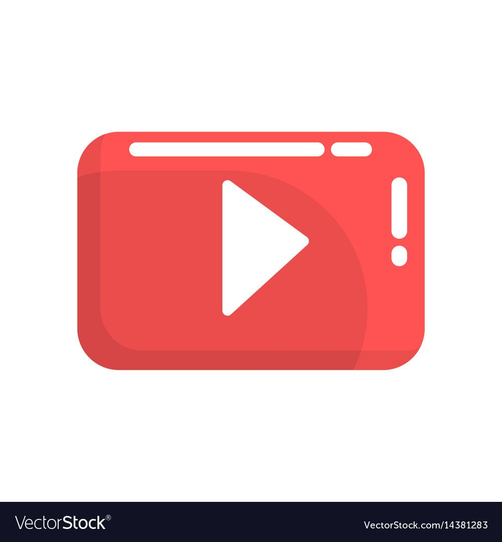 Red Video Play Button Internet Or Youtube Button Vector Image Sponsored Play Button Red Video Ad Red Video Retro Tv Vector Free