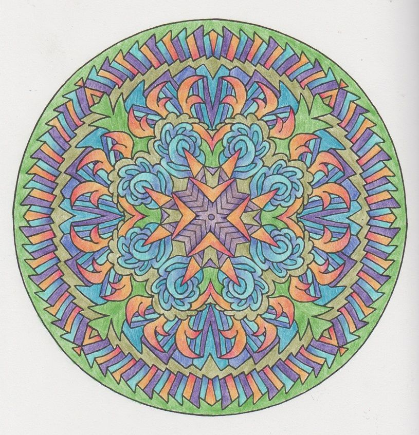 Magical Mandalas 016 done with pencils