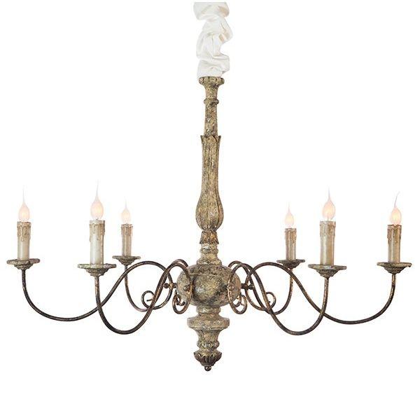 Aidan gray lighting avignon chandelier rustic gold l607rg chan