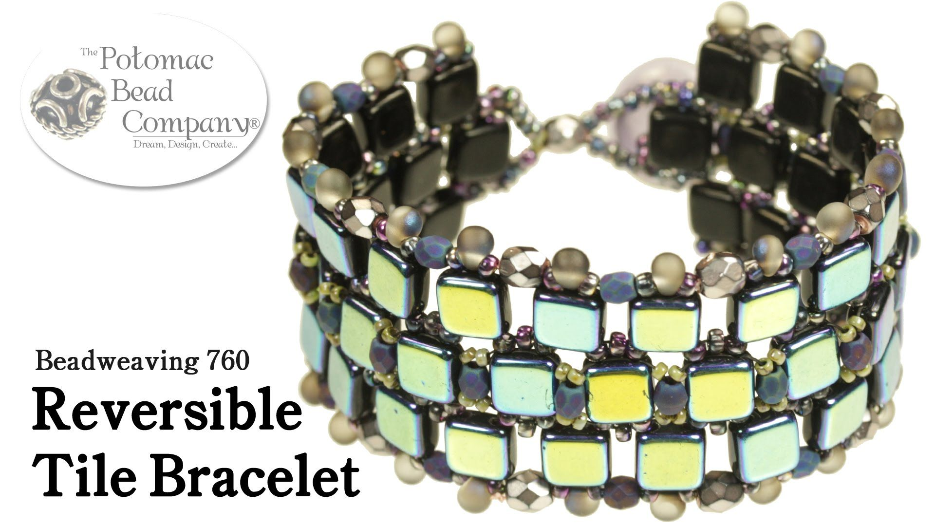Make a reversible tile bracelet beaded bracelets pinterest