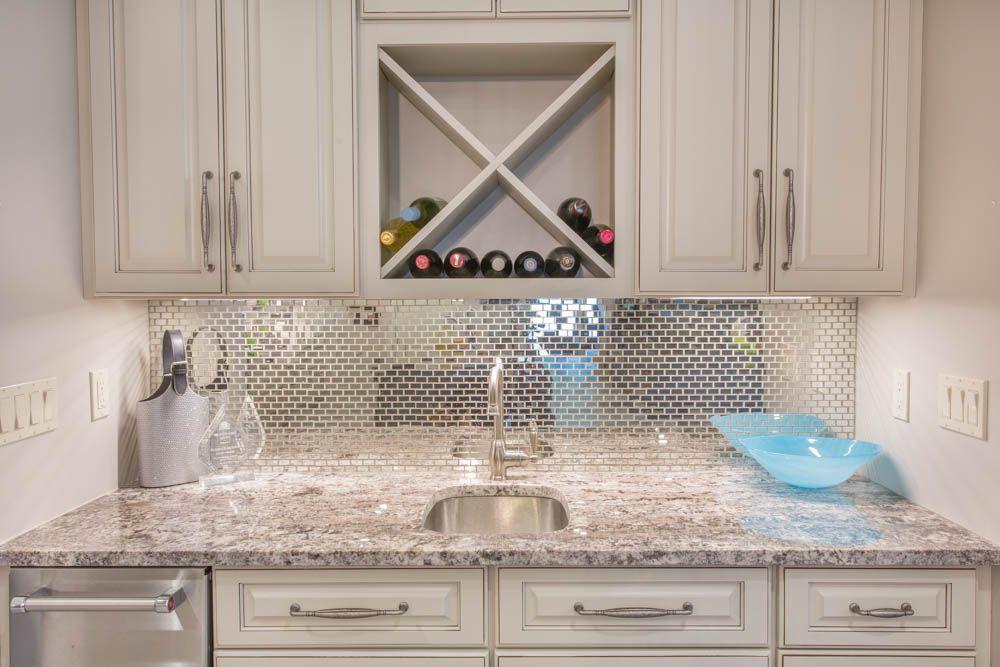 Delicieux White Torroncino Granite Bar Countertop #bar #granite #countertop