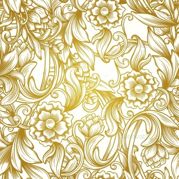 Luxury Seamless Pattern Floral Pattern Vector Vintage Floral Backgrounds Vector Background Pattern