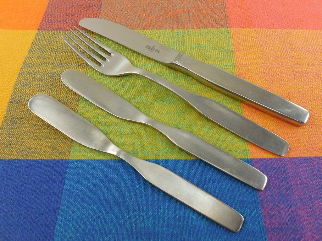 wmf cromargan germany stainless flatware form pattern butter