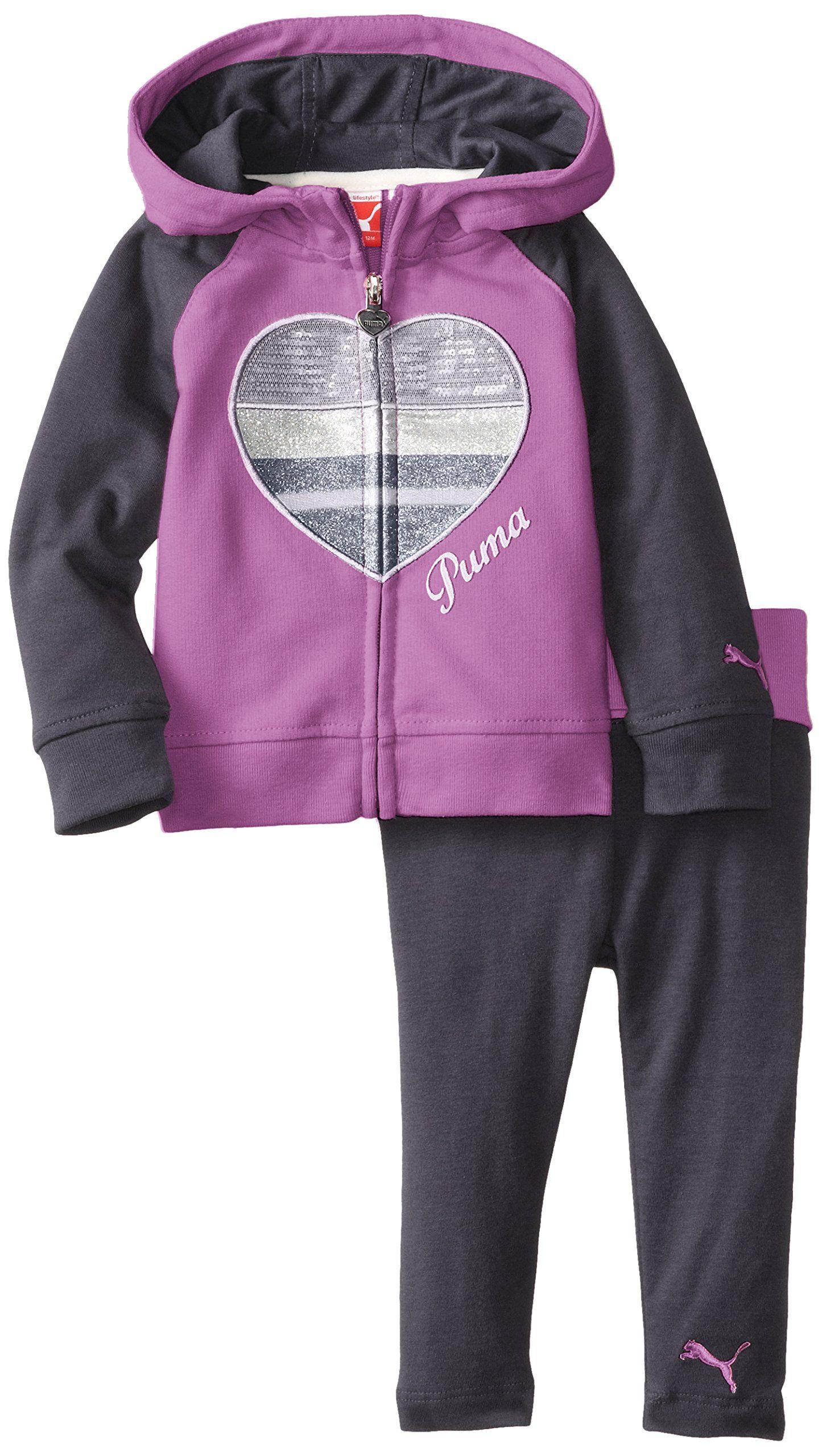 Amazon PUMA Baby Girls Sparkle Heart Legging Set Clothing