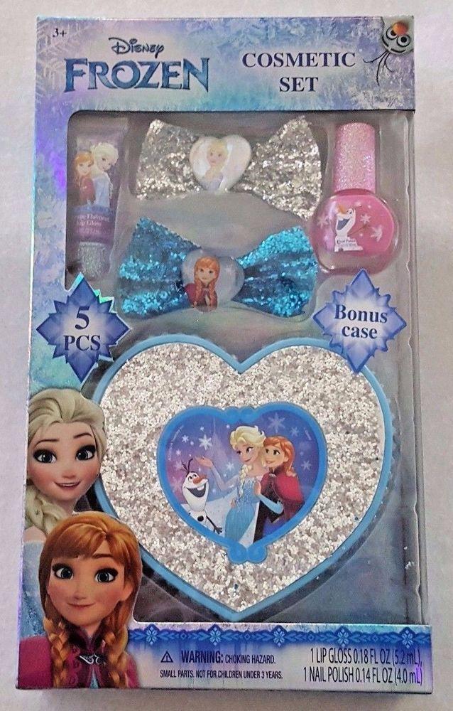 Disney Frozen Cosmetic Gift Set Makeup Gloss Polish Bows