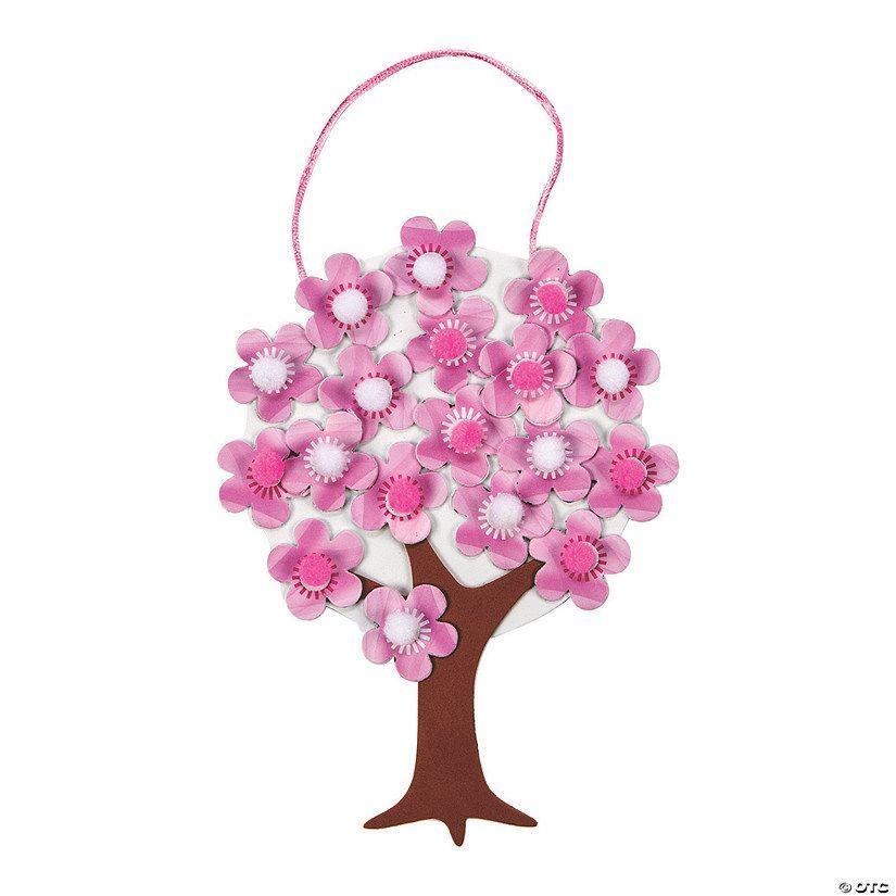 Cherry Blossom Tree Pom Pom Craft Kit In 2021 Pom Pom Crafts Craft Kits Valentine Day Crafts