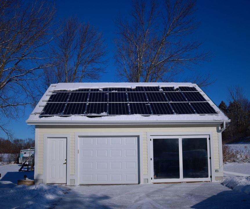 Photo of Passive Solar Garage Door