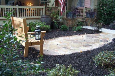 FRONTYARD: NO GRASS | Backyard landscaping, No grass yard ...