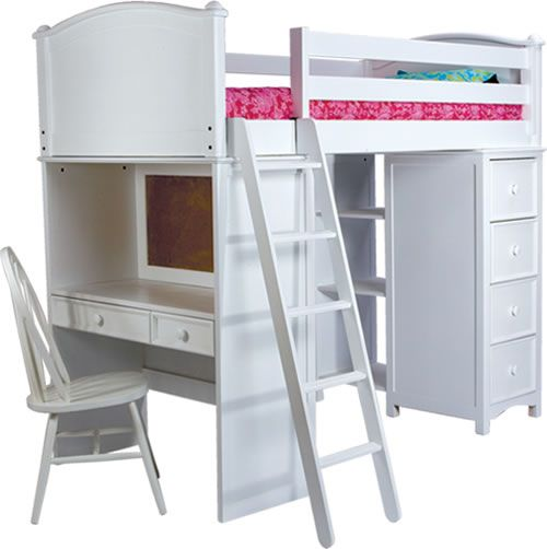 A kid\'s bed, dresser, closet and desk all rolled into one- nice for ...