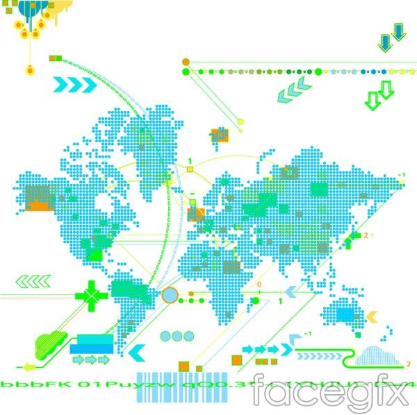 Trend map vector dotted arrow trend element cultural arts trend map vector dotted arrow trend element gumiabroncs Image collections
