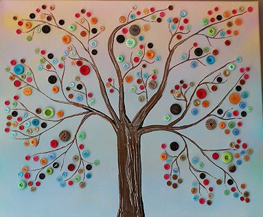 Arbol de botones arts crafts arbol pinterest - Como hacer cuadros con botones ...