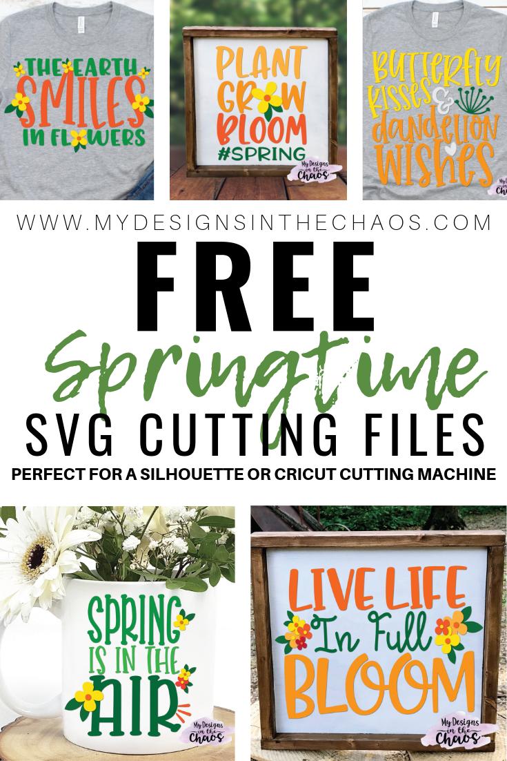 Download Free Spring SVG Files | Cricut, Svg file, Monogram frame