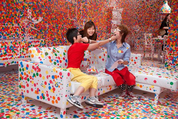 Yayoi Kusama: 'The obliteration room' at the Gallery of Modern Art (GOMA) Brisbane in conjunction with the exhibition 'Yayoi Kusama: Look Now, See Forever' | Photography: Mark Sherwood
