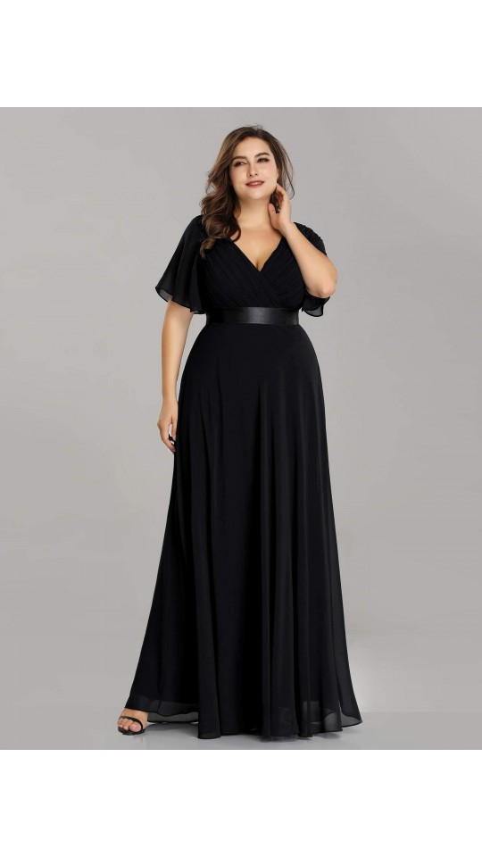 Black Women S Plus Size Floor Length Long Chiffon Bridesmaid Dress Bridesmaid Dresses Plus Size Navy Blue Wedding Dress Bridesmaid Dresses